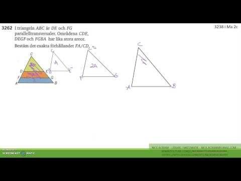 Matematik 5000 Ma 2b   Kapitel 3   Några bevis med likformighet   3262