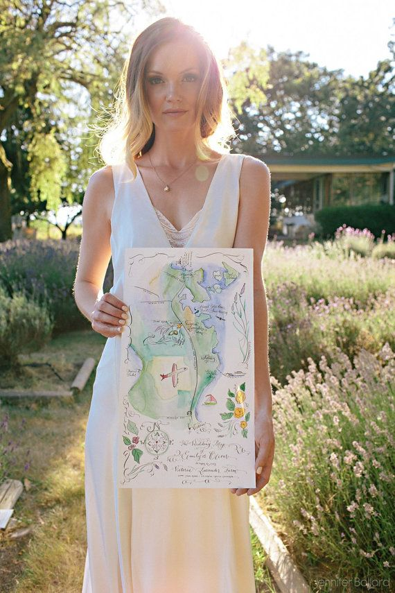 wedding invitations map%0A Custom Map  Hand Drawn  u     Hand Lettered  Hand Painted Art Map  Water colour   Anne of Green Gables   Avonlea  Wedding Invitation