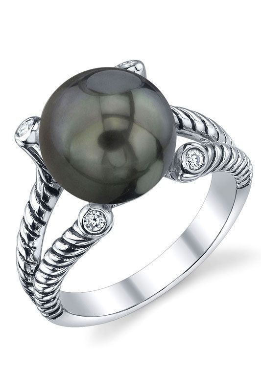 Radiance Pearl Braided 9-10mm Tahitian South Sea Pearl Ring