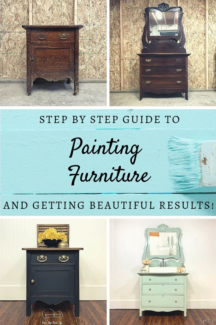 How To Paint Furniture An Instruction Guide For Beginners Refurbished Furniture Diy Diy Furniture Renovation Painting Old Furniture