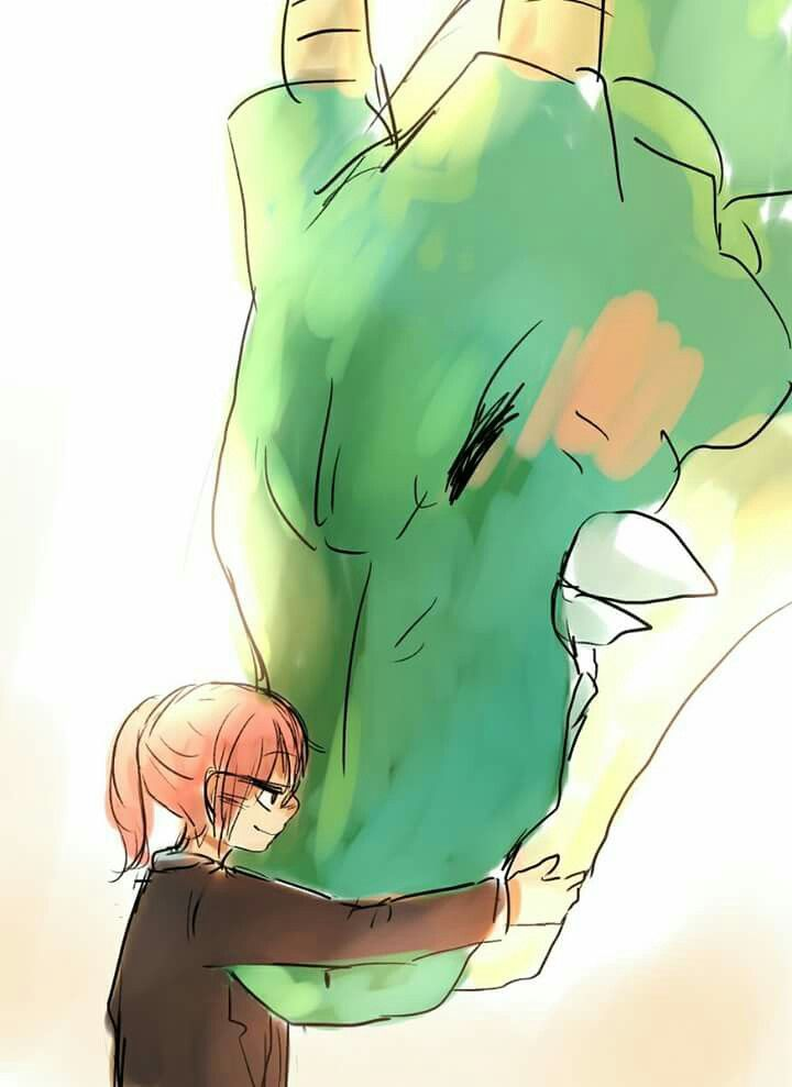 Shenlong tmb gosta de abraços
