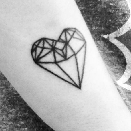 Diamond heart tattoo tattoos pinterest perspective for Diamond heart tattoo
