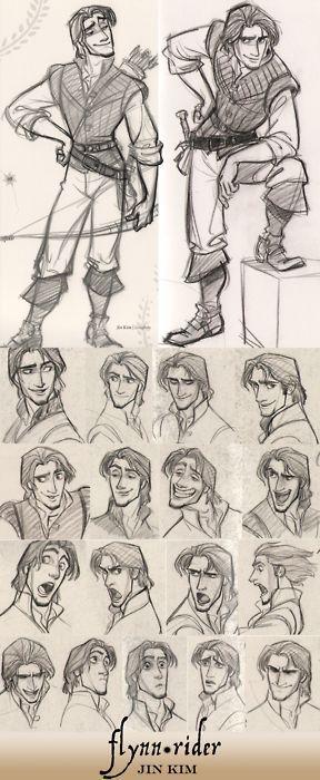 Flynn Rider by jin kim © Disney Animation Studios — Character concepts