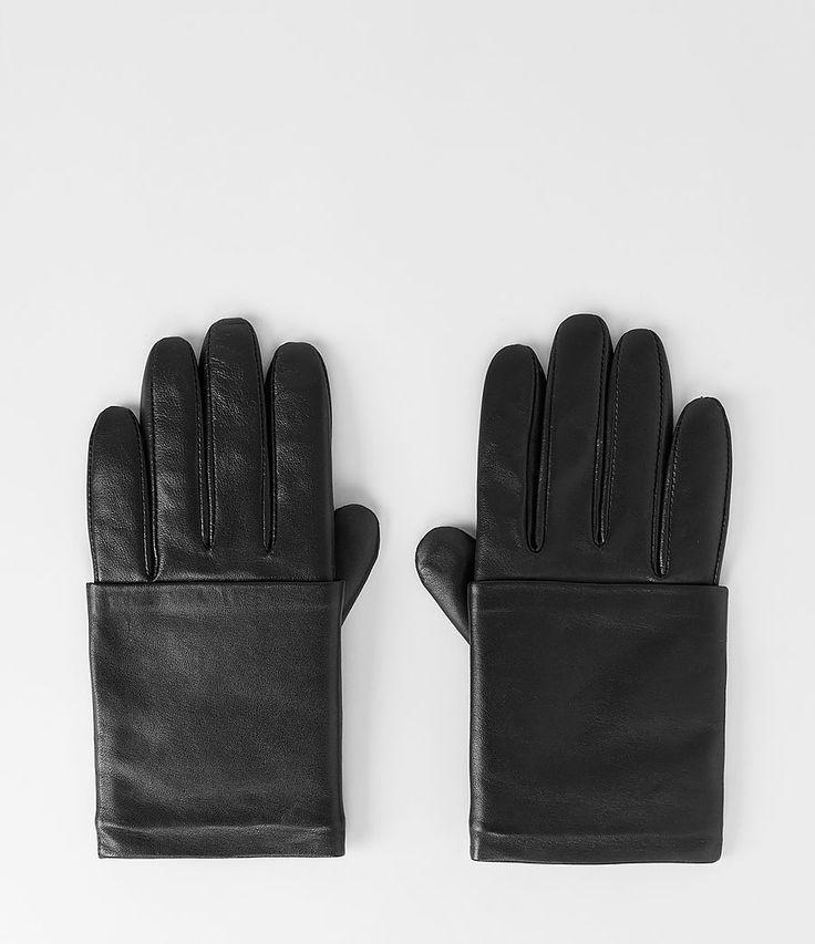 Womens Karly Gloves (Black) | ALLSAINTS.com