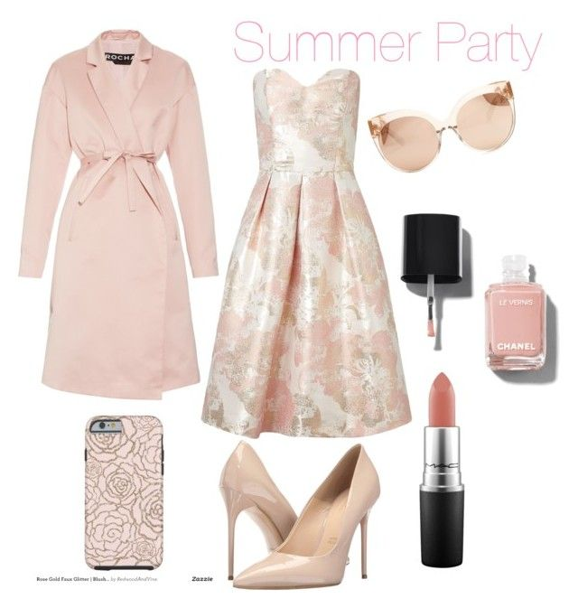 """""""Summer Party"""" by kati-fagerstrom on Polyvore featuring Miss Selfridge, Rochas, Massimo Matteo, Linda Farrow, Chanel and MAC Cosmetics"""