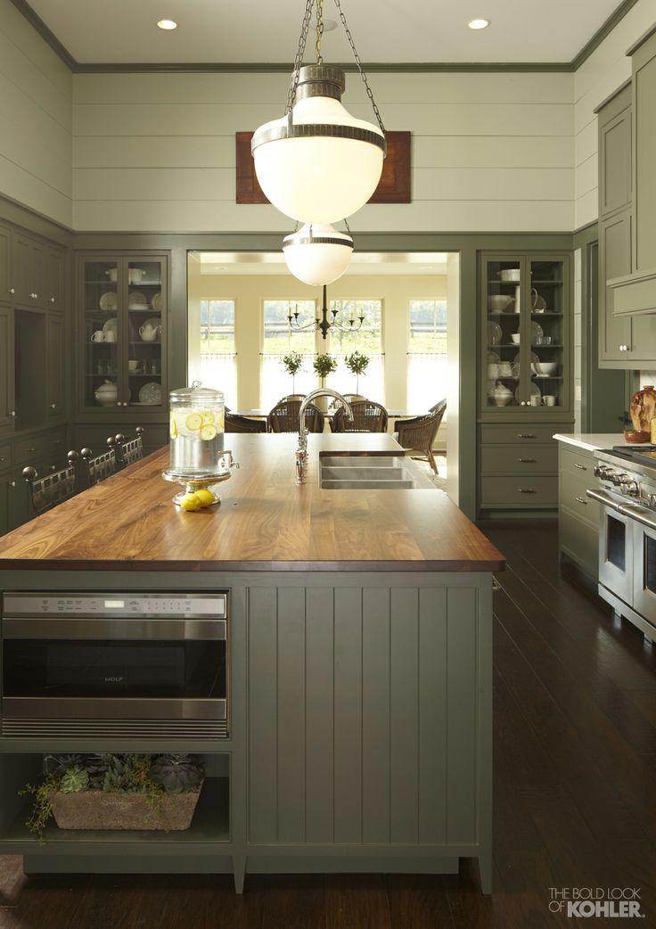 Sage green country kitchen   Kitchen   Pinterest