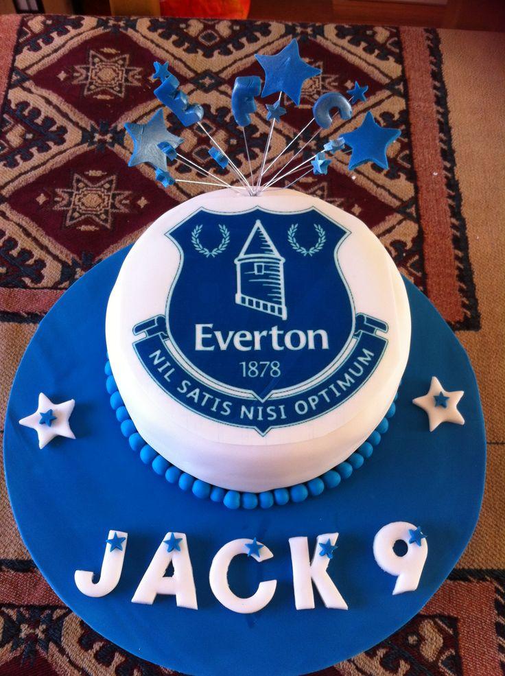 Jack S Everton Cake Football Cake Ideas Pinterest