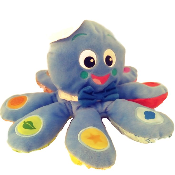 Baby einstein octoplush learning toy teaches 8 colors in 3
