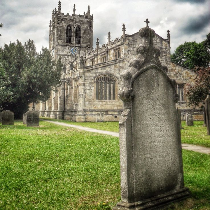 St Mary's Parish Church. Tadcaster. Yorkshire. Rebuilt between 1350 and 1450 after the Battle of Bannockburn (The Scots destroyed it in 1315) and again re-built stone by stone in 1877 to raise it 6 meters to avoid flooding  from the nearby River Wharfe