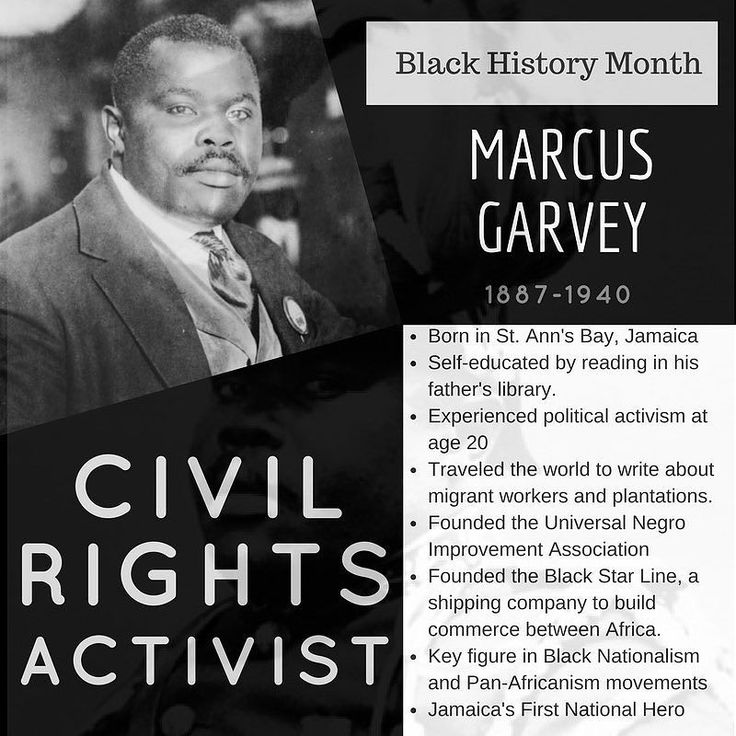 Marcus Garvey was a leader and orator for the Black Nationalism and Pan-Africanism movements which inspired the Nation of Islam and the Rastafarian movements. He would read his fathers books and after learning about the political activism happening in America and around the world he started writing and speaking on civil rights issues. He founded the Universal Negro Improvement Association  which was dedicated to promoting African Americans and the resettlement in Africa. His movements and…