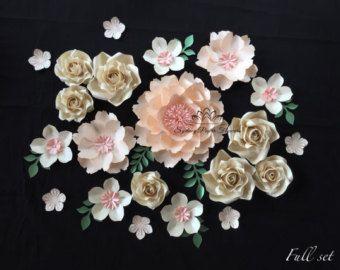 Artículos similares a JARDÍN SECRETO flor de papel pared /backdrop telón de fondo de la boda / bautizo / Baby mesa de ducha nupcial ducha/dulce / tabla del desierto / té de cocina en Etsy