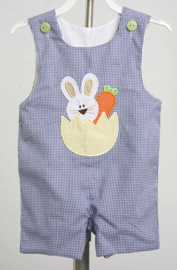 a5a3d5eee59a Easter Bunny Romper for Boy