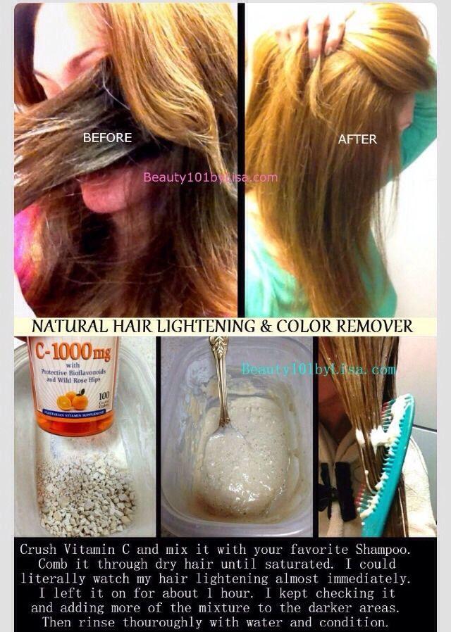 Natural Hair Lightener & Color Remover #Beauty #Trusper #Tip