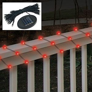 Product # 60794 - Decorative outdoor lighting perfect for your balcony, stairway, yard, trees & plants all year long. 50 LED lights with 25ft. cord charges by sunlight and automatically turn on at night. No outlet needed.