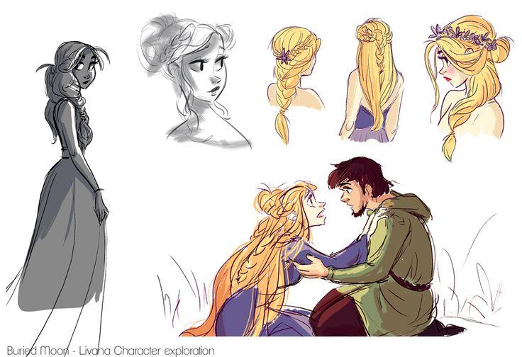 sketchbloop looks like rapunzel and eugene