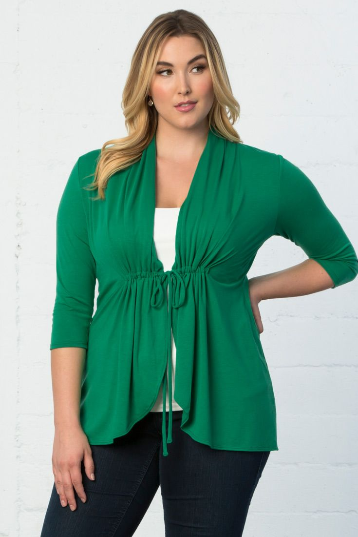 Our Sunset Stroll Bellini is the perfect lightweight layering piece for your wardrobe. Available in other colors. Made exclusively for plus size women. 50% off the proceeds for the Promise Green Bellini go to The Sandy Hook Promise. For more information, visit www.sandyhookpromise.org Visit www.kiyonna.com for other separates and dresses.