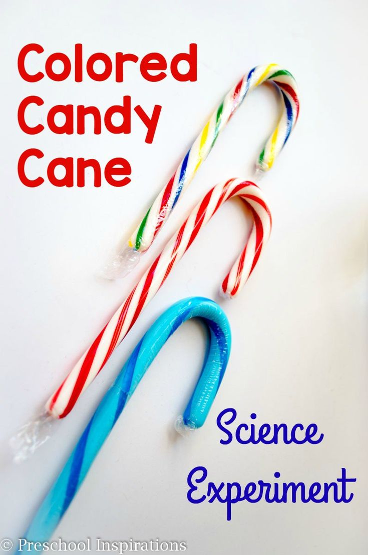 3 Colored Candy Canes Science Experiment by Preschool Inspirations