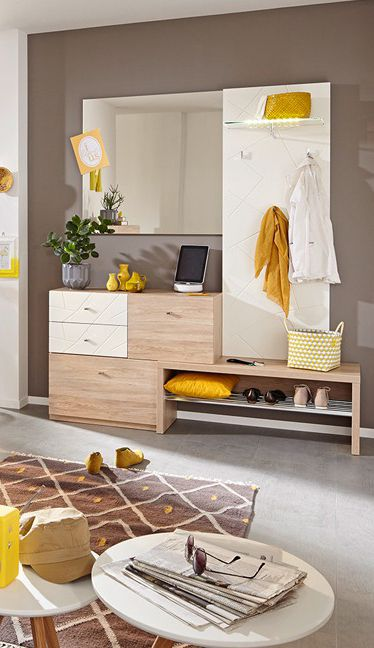 elegante Flurmöbel Modena Plus | Sitzbank, Schuhschrank, Garderobe & Spiegel - auf kleinstem Raum bieten die Möbel für den Flur alles, was benötigt wird. #Garderobe #MoebelLETZ