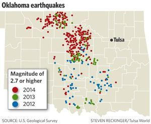 National report confirms that Oklahoma is at greater risk of human-induced earthquakes - Latest Earthquake Information from the U.S. Geological Survey - TulsaWorld
