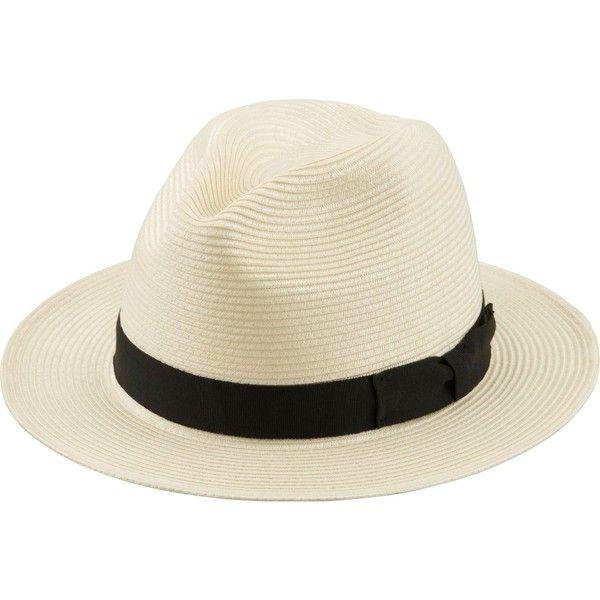 UNIQLO Men's Blade Hat ($20) ❤ liked on Polyvore featuring men's fashion, men's accessories, men's hats, off white, mens wide brim hats, mens hats, mens straw hats and mens wide brim straw hat