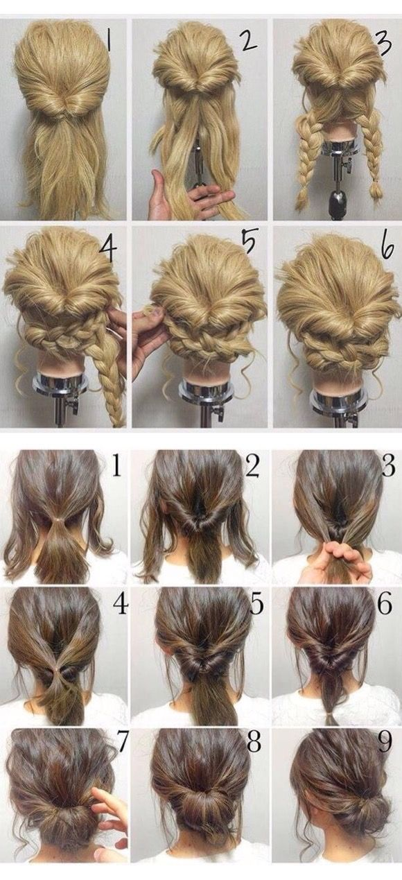 ^..^ I'm finding some cute hairstyles today! Time to work the beauty board t…