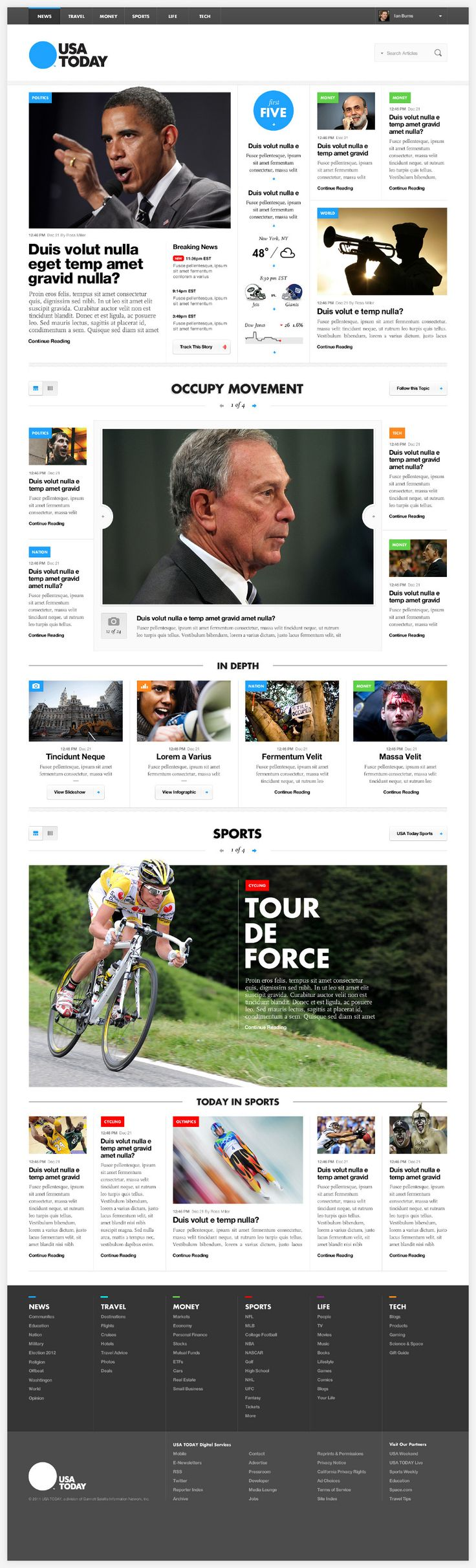 Simple but distinct. USA Today - Outro Lado.