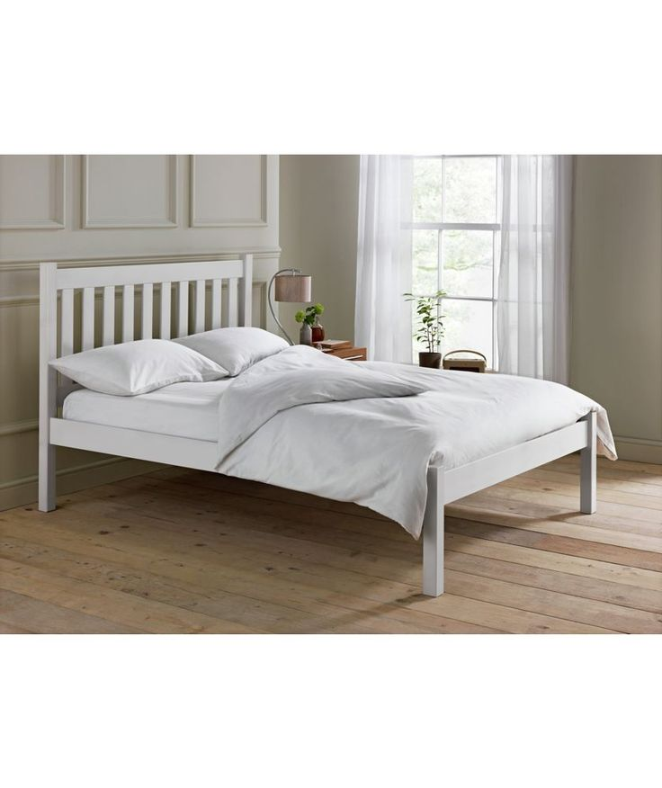 Shop Beds Online: Buy Silbury Kingsize Bed Frame-Solid Pine With Whitewash