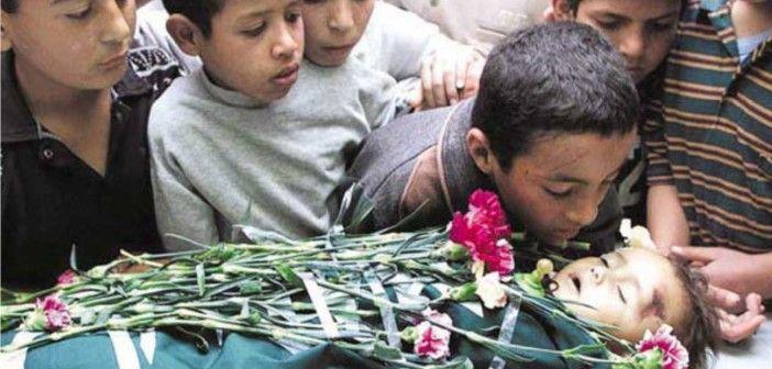 Israel telah membunuh satu anak Palestina setiap 3 hari sekali dalam kurun waktu 13 tahun. Departemen Informasi di Ramallah melansir data statistik resmi pada tahun 2013. Mengungkap bahwa 1.518 anak-anak Palestina dibunuh oleh pasukan pendudukan Israel dari pecahnya Intifada kedua pada bulan September 2000 sampai dengan April 2013............... http://kabarbogor.net/blog/tiap-3-hari-1-anak-palestina-di-bunuh-tentara-israel/