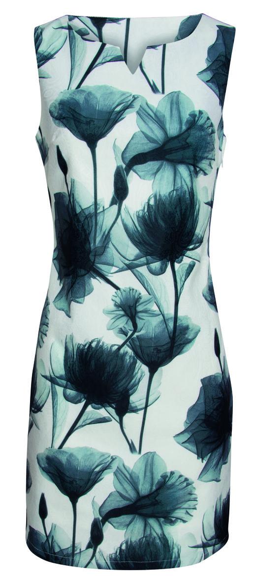 SMASHED LEMON jurk wit grijze bloem | Queen Yelien
