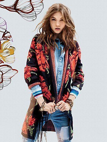 Free People Flower Power Cardi at Free People Clothing Boutique