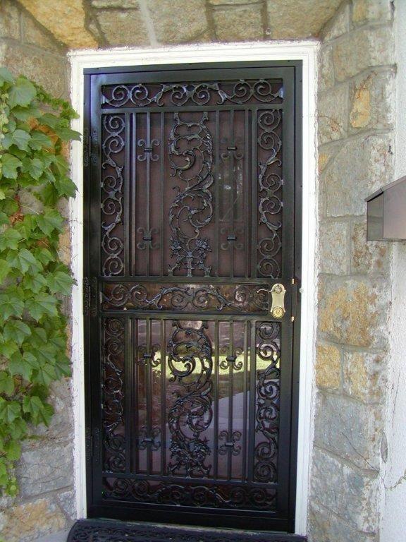 Custom iron storm door doors and windows pinterest for Custom storm doors