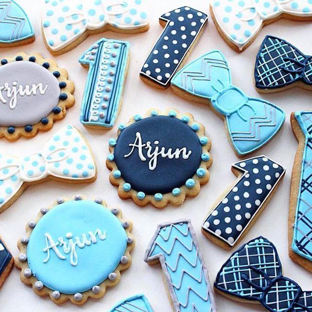 Late night birthday cookie inspiration   @mindysbakeshop [CookieCutterKingdom Naples Plaque, Bow and Tie Cutters] #cookiecutterkingdom