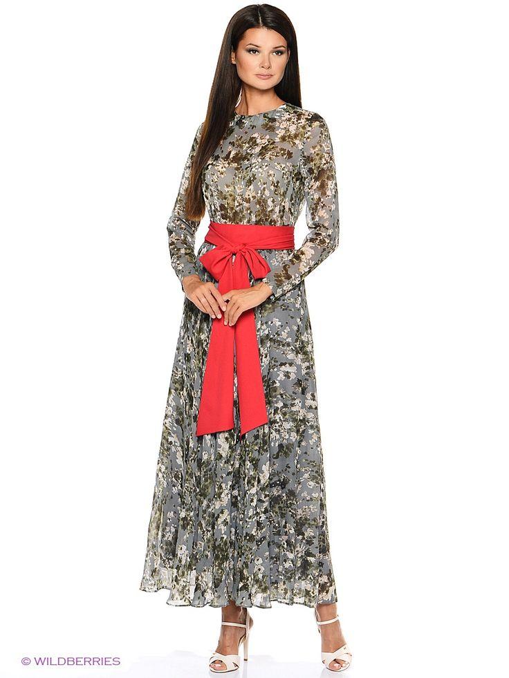Платье Levall. Цвет серый.