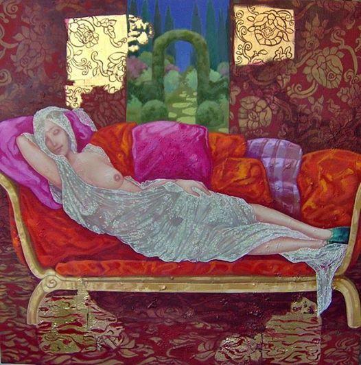 """☀ Cohen Fusé ☀  """"Sul divano"""" (Giuseppe Nacchia) Scivola il tempo morbido, sui tuoi capelli langue; [...] Silenzio esangue sui tuoi capelli d'oro;  [...] Ne la tua gota affonda questo silenzio, rosa aulente ne l'albore del mattino; e giace il tuo corpo supino. (da Paradigma d'Arte)"""