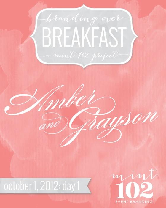 Branding over Breakfast - Mint102 Wedding Logos