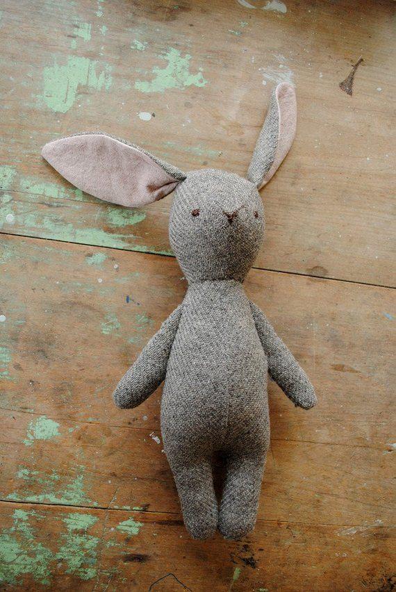 Bunny rabbit and bear stuffed animal doll sewing pattern /