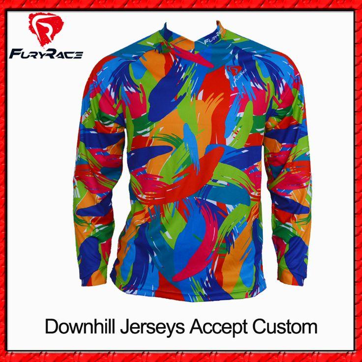 Fury Race High Quality Downhill Jerseys MTB Jersey Custom BMX Motocross Bike Jersey Motorcycle DH Ride Shirts Men Women Clothing