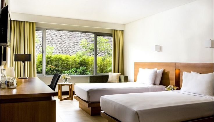 Santika Hotel Bandung, this hotel has a 76 rooms, located in super strategic location, take 20 minutes from Airport, near the train station, and also it near Museum Geological Bandung, you also can walk to Dago.  http://www.zocko.com/z/JICKc