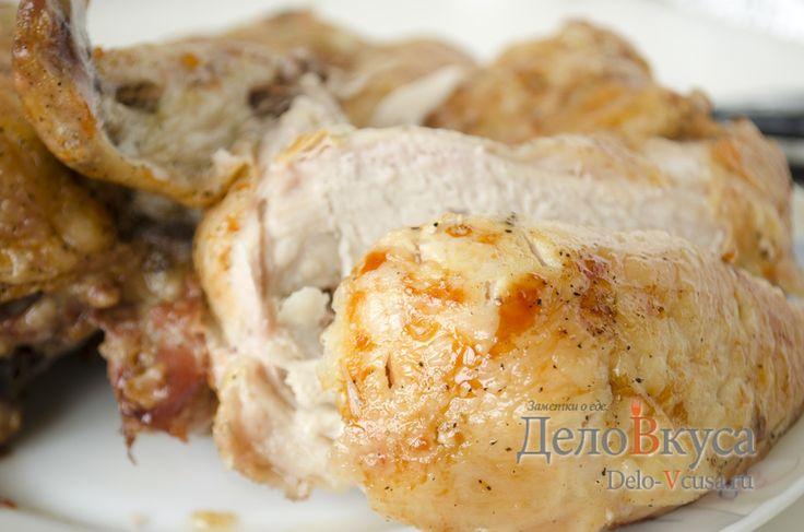 Рецепт приготовления курицы в духовке целиком #курица  #еда #рецепты #деловкуса #готовимсделовкуса
