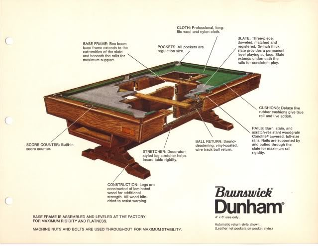 8 Brunswick Billiard Pool Tablebilliards