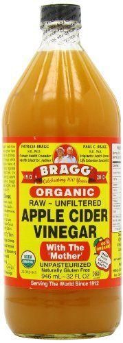 Braggs – Vinaigre de cidre organique – 946ml: Renforce la santé et la jeunesse de la peau Riche en enzymes et potassium Contribue à la…