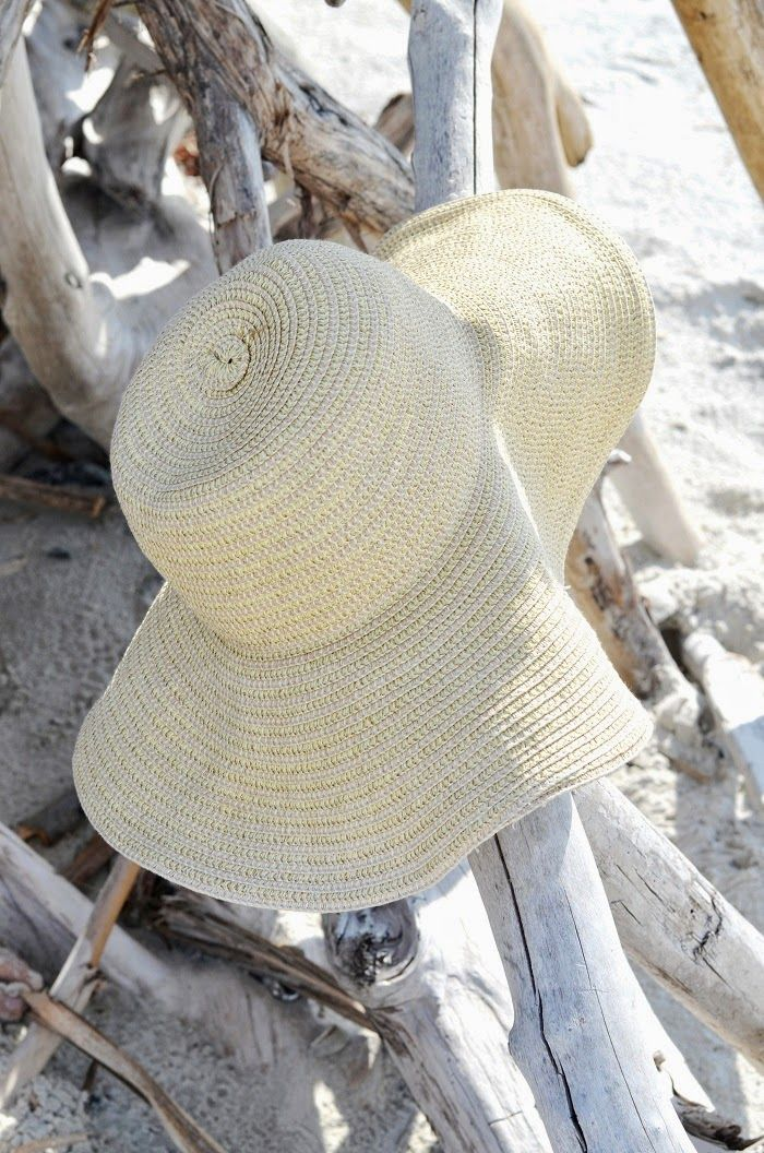 I have to always have a good ole beach hat when I am at the ocean.  Love my beach hat.