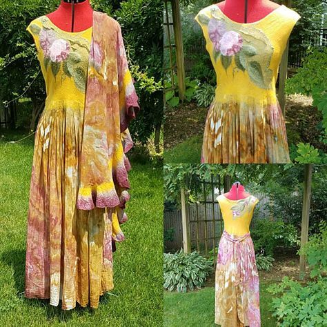 Check out this item in my Etsy shop https://www.etsy.com/listing/544816233/nuno-felted-dress-in-multi-colors-long