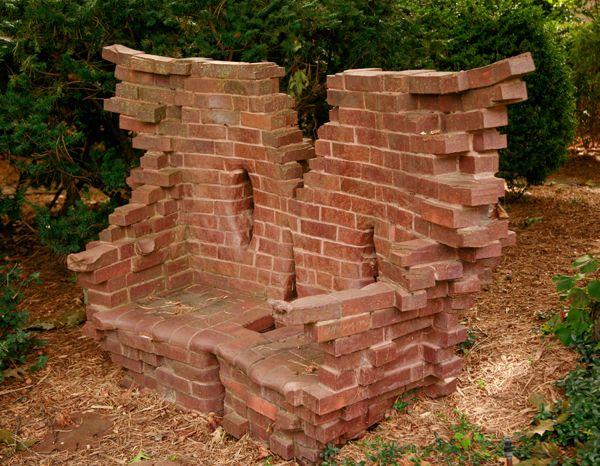 Creative bench brickwork #brickwork #brickbench