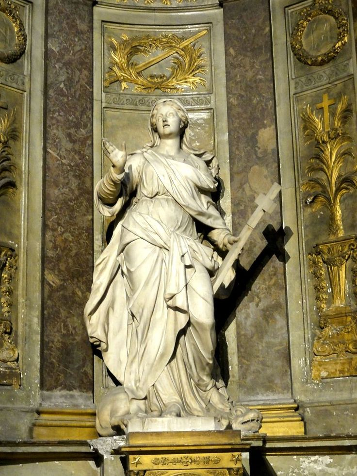 Paris (75), abbaye Saint-Germain-des-Prés, chapelle Ste-Marguerite, statue - Abbaye de Saint-Germain-des-Prés — Wikipédia