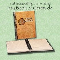 My BIG BOOK OF GRATITUDE. We should be grateful every day for all the good stuff that goes on in our lives. Sometimes its easy to get bogged down with all the not so good things that come along and we forget just how amazing life is. This book helps you remember the good things and can help make you HAPPY  http://www.southfield-stationers.com/stationery/notepads-184/lifestyle-books-514/