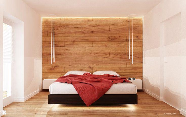 Sypialnia w drewnie - zdjęcie od Ale design Grzegorz Grzywacz - Sypialnia - Styl Minimalistyczny - Ale design Grzegorz Grzywacz