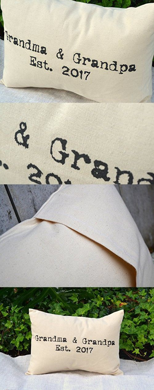 Grandma & Grandpa 2017 Grandparent Pillow for NEXT year, Pregnancy Announcement, Grandparent Gift Pillow with Ampersand First Grandchild announcement