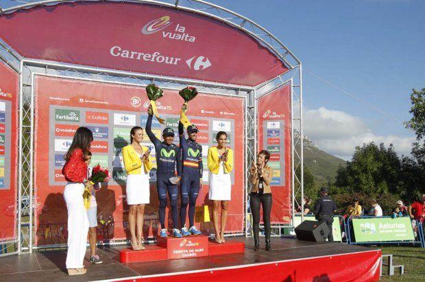 La Vuelta 2015 - Nairo Quintana and Alejandro Valverde