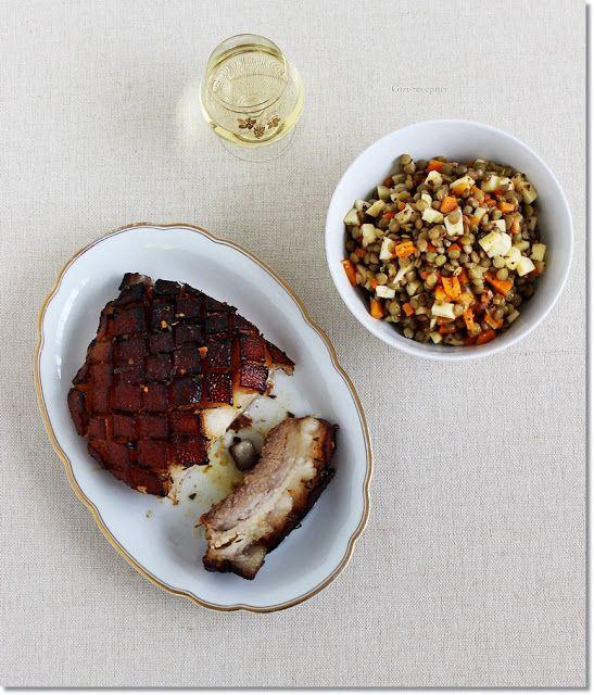 Gizi-receptjei.  Várok mindenkit.: Fűszeres császárhús lencsesalátával.